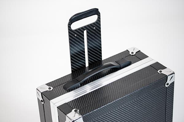 Carbon fiber suitcases