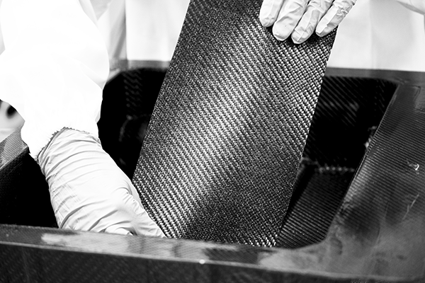 Production stages of carbon fiber manufactured items