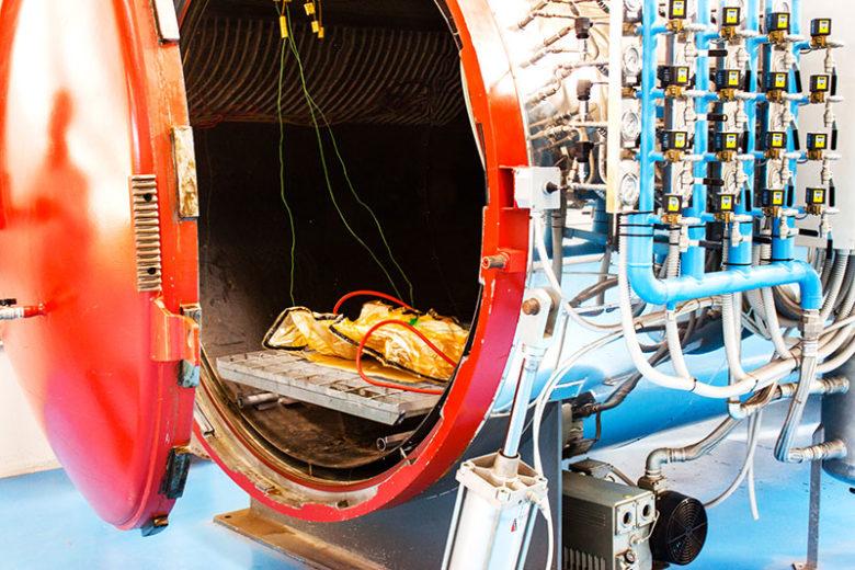 La nostra autoclave per la lavorazione di componenti in fibra di carbonio e materiali compositi