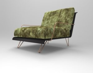 CARBON FIBER ARMCHAIR CARBON LEAF